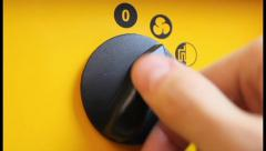 Selector switch of heating modes, click for HD Stock Footage