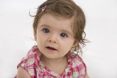 Close up of baby girl Stock Photos