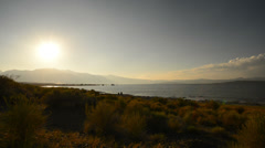 Mono Lake 41 Timelapse Navy Beach Sunset Tufas Clouds Stock Footage