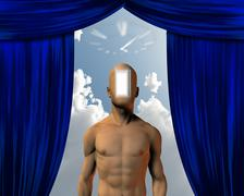 mind doorway time - stock illustration