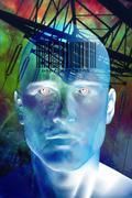 Future man Stock Illustration