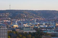 Germany, Baden Wuerttemberg, Stuttgart, View of television tower, city center - stock photo