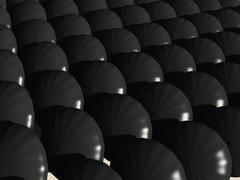 Multiple umbrellas from topside Stock Illustration