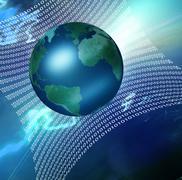 global net - stock illustration