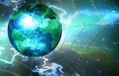 Global net Stock Illustration