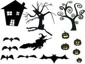 Halloween silhouette Stock Illustration
