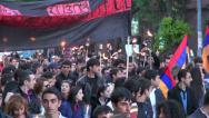 Stock Video Footage of Yerevan, Genocide Memorial Day, 24 April 2013