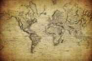 Stock Photo of vintage map of the world 1814..