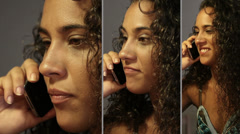 Girl talking on the smartphone (picture in picture) Stock Footage