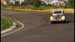 Stock Video Footage of Big sluggish Bentley 4 1 2 MX Saloon 2, click for HD