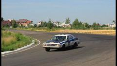 Leyland P76 retro automobile in Peking to Paris rally, click for HD Stock Footage