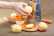 Grated carrot. Stock Photos