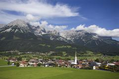 Stock Photo of Austria,Tyrol, Ellmau am Wilden Kaiser, View of town