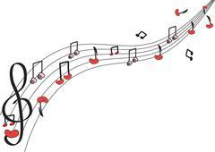 Black music note Stock Illustration
