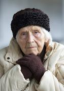 Austria,  Portrait of senior woman, close up - stock photo
