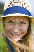 Stock Photo of Austria, Teenage girl smiling, portrait