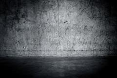 Grungy concrete wall and floor Stock Photos