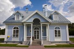 Modern country house Stock Photos