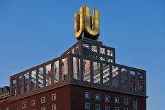 Germany, North Rhine Westphalia, Dortmund, View of Dortmund U Tower - stock photo