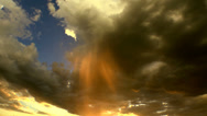 Stock Video Footage of Spectacular Storm Cloud Rain Shaft Time Lapse