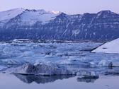 Stock Photo of Iceland, View of Jokulsarlon Glacial lake near Vatnajokull National Park