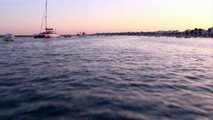 Ria Formosa - Paisagem - Barco Terra Estreita - St Luzia C1 Stock Footage