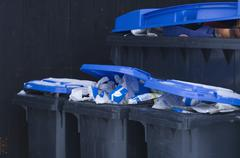 Stock Photo of Germany, Separation of wastepaper in bin