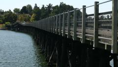 Galloping Goose Trail Bridge, Victoria, BC Stock Footage