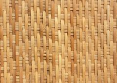 Bamboo weave pattern for background use Stock Photos