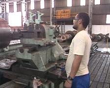 Heavy Engineering Machine Lathe shop PAL - stock footage