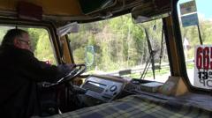 Armenian bus driver - stock footage