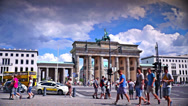 Stock Video Footage of The Brandenburg Gate in a sunny day