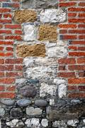 Interesting Brick and Stone Wall - stock photo