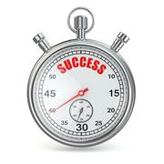Stopwatch with text success on dial. Stock Illustration