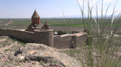 Khor Virap monastery, Armenia Stock Footage