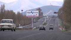 Highway in Armenia, in the former Soviet Union Stock Footage
