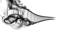 Black abstract smoke pattern and curves Stock Photos