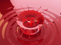 Cherry juice or wine splash and splatter Stock Illustration
