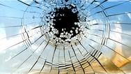 Stock Illustration of crime scene: pieces of broken mirror glass
