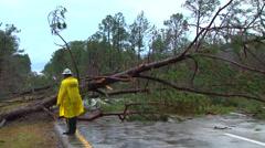 Tornado damage - stock footage