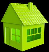 Realty and real assets: green house Stock Illustration
