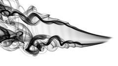 abstract black smoke pattern and swirls - stock photo