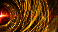 Abstract fantasy motion background, shining lights and particles - stock footage