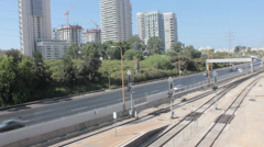 Tel Aviv Highway of Ayalon South Stock Footage
