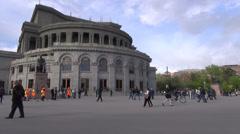 Opera Square, Yerevan, Armenia Stock Footage