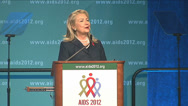 "Stock Video Footage of Hillary Clinton ""An AIDS free generation"""