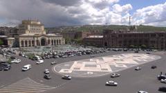 Yerevan, Republic Square, capital city Armenia Stock Footage