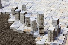 Stock Photo of Germany, Rhineland Palatinate, Construction of paving stones
