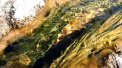 Sulfur and Algae In Hot Springs Water Stock Footage