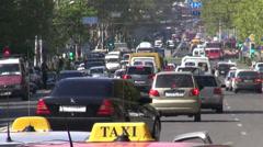 Traffic in Yerevan, Armenia Stock Footage